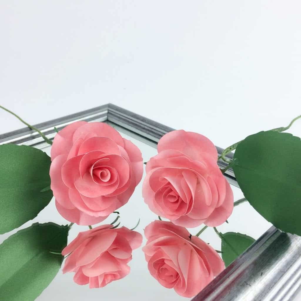 paper rose template, 3d paper flower, paper flower template