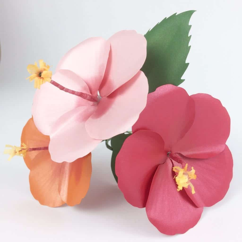 how to make a paper hibiscus flower