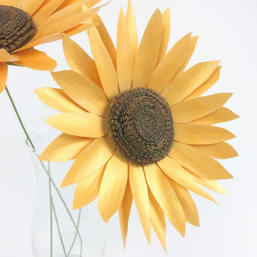 Paper Sunflower Tutorial