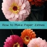 Learn how to make paper flowers. Paper zinnia | how to make paper flowers | diy paper flowers | wedding decorations | easy paper flowers | paper crafts | silhouette crafts | Cricut flowers