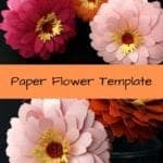 learn how to make these paper zinnias. They are super easy and quick to make. Paper flower templates | Easy paper flowers | Wedding decor | cricut flowers | 3d paper flowers | paper crafts | silhouette crafts