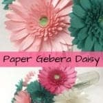 learn how to make these paper gerbera daisies. They are super easy and quick to make. Paper flower templates | Easy paper flowers | Wedding decor | cricut flowers | 3d paper flowers | paper crafts | silhouette crafts