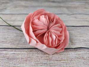 How to Make a Cardstock Juliet Rose