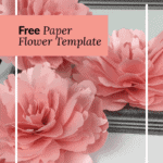 peony paper flower template