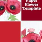 poppy paper flower template