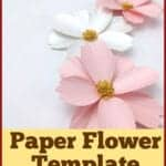 cosmos paper flower template