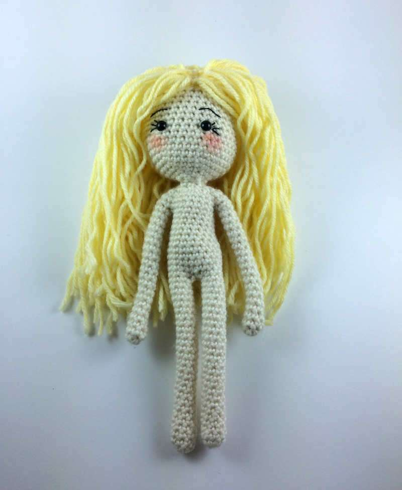 Crochet Doll Pattern with Clothes