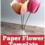 tulip paper flower template