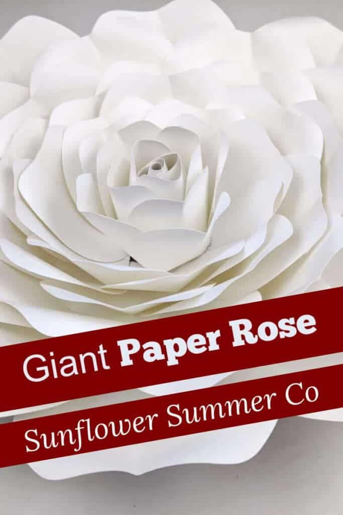 giant paper rose template