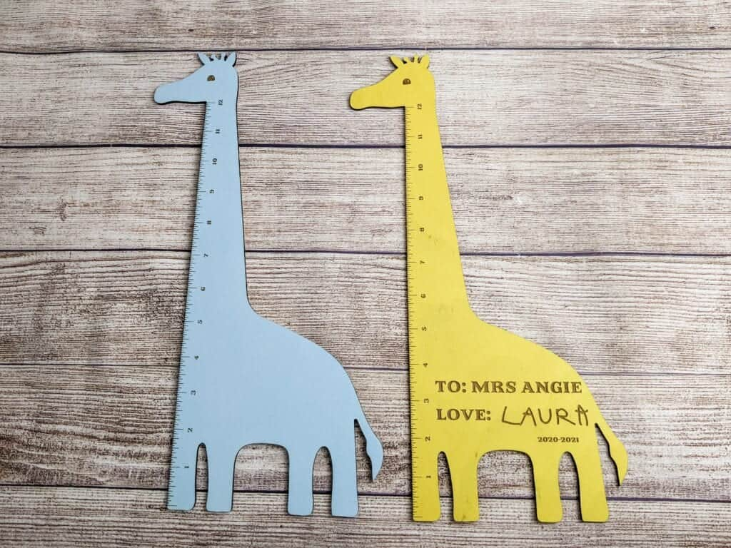 Giraffe ruler svg for lasers and glowforges