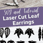 Laser Cut Leaf Earrings SVG files that you can wear in the fall or cut out of acrylic