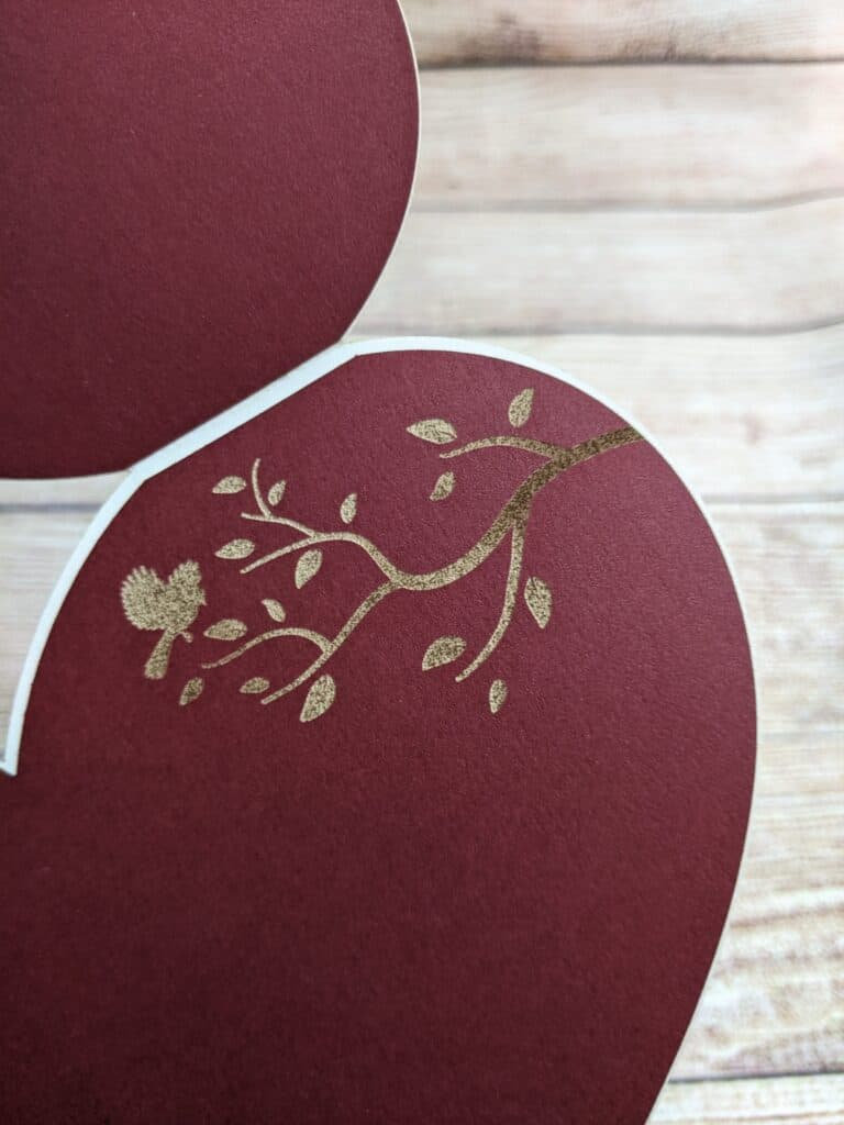 engraved paper with glowforge