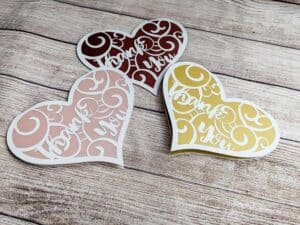 Read more about the article Heart-Shaped Thank You Card SVG For Cricut or Glowforge